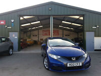 2012 Honda Civic 1.4 i-VTEC SE BLUE PETROL MANUAL FULL SERVICE HISTORY