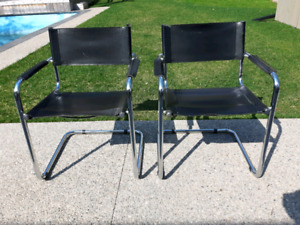 Chrome Cantilever Chairs *Delivery Available*