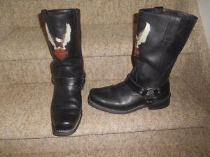 Mens Size 12 Boots.  Harley, Cowboy
