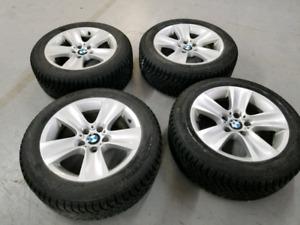 4 Winter Tires Run Flat  225/55/R17 & Original BMW Mags