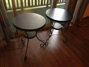 Two Outside Metal Tables