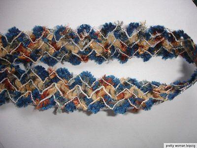 5m Wollborte 0,60€/m 2,5cm breit blau bunt DF114