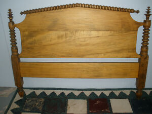 Antique Pine Spindle Bed (frame only)