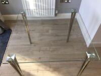 John Lewis Mystic glass table