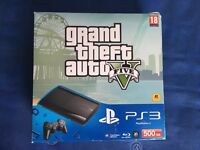 500GB Super Slim PS3 + 7 Games