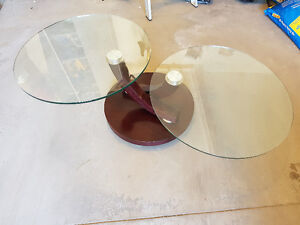 Italian Glass, Wood and Steel Coffee Table Kitchener / Waterloo Kitchener Area image 3