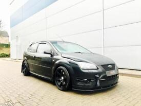 2006 56 Ford Focus 2.5 ST2 Black + RS Styling + Approx 320bhp + ST3 RED Leather