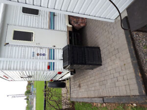 Composter for sale with front sliding door. Easy top access lid