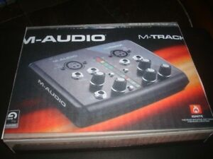M-AUDIO M-TRACK RECORDING EQUIPMENT