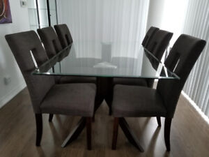 Glass Top Dining Room Set for Sale