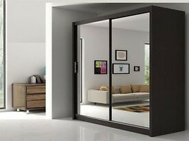 BRAND NEW BERLIN FULL MIRROR SLIDING DOOR AVAILABLE IN 4 COLORS SAME DAY