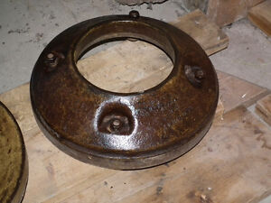 CAST IRON WHEEL WEIGHTS [2] ABOUT 100 LBS EACH . Windsor Region Ontario image 6