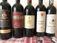 Fine wines vintages 1993, 1997, 2000, 2012