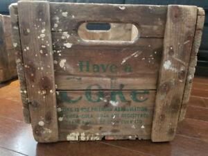 Coca cola wood crate