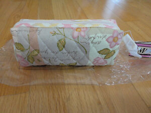 Brand new with tags Maggi B quilted floral makeup pouch bag London Ontario image 1