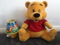 Winnie the Pooh teddy bear & side lamp
