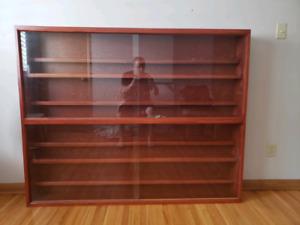 Beautiful wooden display cabinet