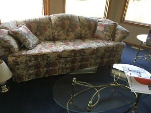 Sofa,  Love seat and Chair, lamps and floral picture Regina Regina Area image 4