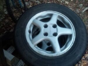 185 x70x14  TIRES & ALLOY RIMS M&S for ACURA & OTHERS