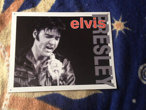 Elvis Presley poster Vintage metal Tin signs Home wall decor Art