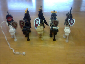 Skeleton characters with skeleton horses - Lego compatible
