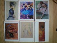 Carte postales de peintres reconnus.