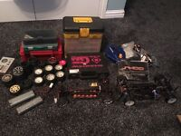 Professional RC TOURING CARBON RACE SETUP, 2 chassis+millions of spares
