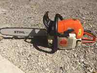 """Stihl MS290 chainsaw with an 18"""" bar, case, extra chain"""