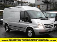 2013 FORD TRANSIT 350/140 MWB MEDIUM ROOF LIMITED IN SILVER WITH AIR CONDITIONIN