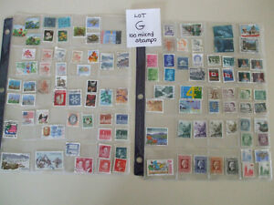 "Used Postage Stamps Lot "" G "" Cambridge Kitchener Area image 1"