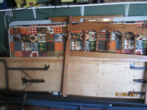 2 twin box springs 1 headboard and rails 1 king frame only 50