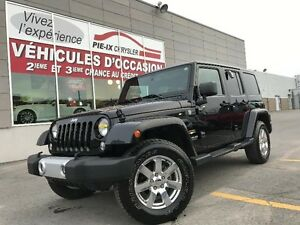 Jeep Wrangler Unlimited 4WD 4dr Sahara+CUIR+2TOIT+NAV+MAGS+WOW!