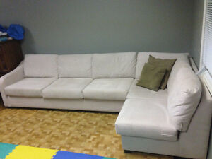 Ultra suede sectional sofa Oakville / Halton Region Toronto (GTA) image 2