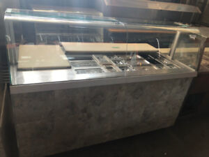 RESTAURANT PREP TABLE WITH COOLER AND SHELVES FOR SALE