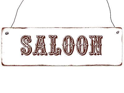 Shabby Vintage Holzschild SALOON Willkommensschild Eingang Türschild Haus Laube online kaufen