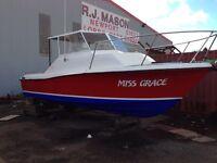 25ft fishing boat d3.6l mercruiser diesel