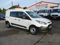 65 reg FORD TRANSIT CONNECT 1.6TDCi ( 95PS ) 230 L1 DOUBLE CAB CREW VAN AIR CON