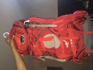 Red Osprey backpack