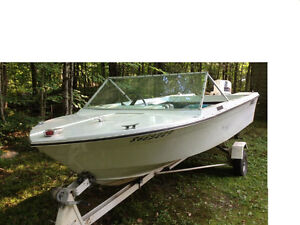 14.5 ft runabout/50Hp and trailer