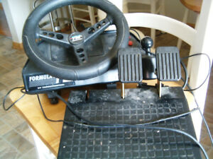 Thrustmaster Formula T2 Steering Wheel & Pedals PC retro gaming