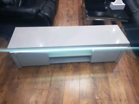 Littlewoods atlantic high gloss grey tv unit with led brand new