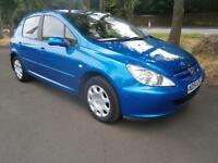 04 Peugeot 307 1.4 16v 2004MY Zest in Blue