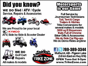 Independent Motorsports Dealer can Service & Repair ATVs!