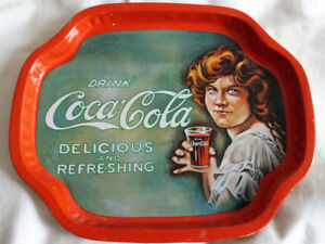 Small Metal Drink Coca-Cola Delicious And Refreshing Tray