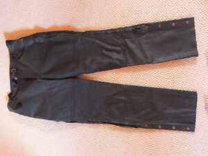 Leather motorcycle pants size 36