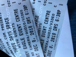 2x 3 days grace concert tickets dec 8 Calgary