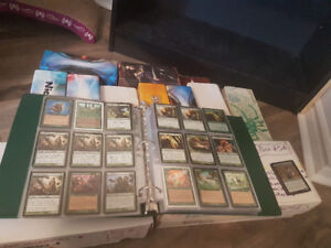 Magic the gathering collection: land, rares, common and uncommon