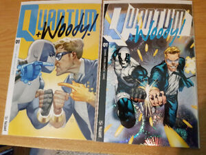 Quantum & Woody Issues #1-3 with Issue #1 Variant Cover
