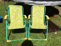 Children's garden chairs x2