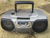 Cd, radio and cassette player